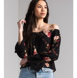 NEW! Akira Breathe In Floral Off Shoulder